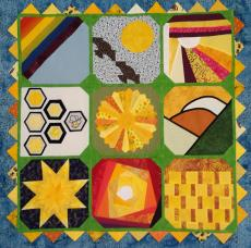 The first IBS3 quilt top: Heike I, Germany