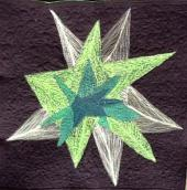 50pictures - No 01 - Quilt No 1 Green Star